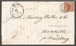 1854. Dotted Spandrels. 4 Skilling Brown.  141 CREMPE 28 8 1858. Very Scarce Cancel. Fo... (Michel: 4) - JF120185 - 1851-63 (Frederik VII)