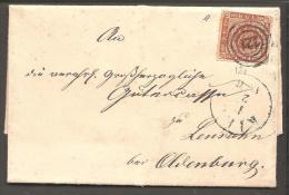 1854. Dotted Spandrels. 4 Skilling Brown. 121. KIEL 1 2 1856. (Michel: 4) - JF120181 - 1851-63 (Frederik VII)