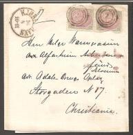 1871. Bi-coloured Skilling. 3 Skilling Purple Lilac/grey. Perf. 14x13½. Normal Frame. P... (Michel: 17IAb) - JF120552 - 1864-04 (Christian IX)