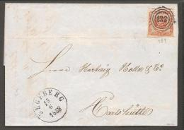 1854. Dotted Spandrels. 4 Skilling Brown. Variety PL. V. NR. 70 LINE In KGL. 133. SEGEB... (Michel: 4) - JF120176 - Briefe U. Dokumente