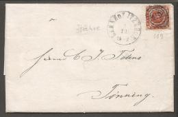 1863. Rouletted. 4 Skilling Brown. 119 BAHNHOF ITZEHOE 3 10 1863.  (Michel: 9) - JF120180 - Briefe U. Dokumente