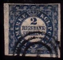 1852. 2 Rigsbankskilling Blue. Thiele Print. Plate II, Nr. 53. Type 1. Beautiful Stamp ... (Michel: 2II) - JF112170 - Neufs