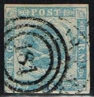 1855. Dotted Spandrels. 2 Skilling Blue. 181 SJÆLLANDSKE JB. P. Very Scarce Cancel On T... (Michel: 3) - JF158446 - Neufs