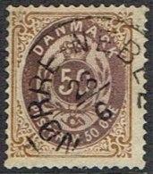 1875. Bi-coloured. 50 Øre Lilac-brown/brown-yellow. Perf. 14x13½. Inverted Frame. NØRRE... (Michel: 30IIYAc) - JF164306 - 1864-04 (Christian IX)