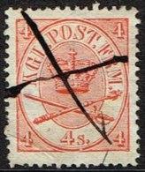 1865. Large Oval Type. 4 Skilling Bright Red. Perf. 13x12½ X (Michel: 13Aa) - JF164095 - 1864-04 (Christian IX)
