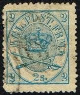 1865. Large Oval Type. 2 Skilling Blue. Perf. 13x12½ (Michel: 11A) - JF161332 - 1864-04 (Christian IX)