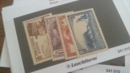 LOT 242786 TIMBRE DE FRANCE NEUF** N�454 A 457 VALEUR 52 EUROS  LUXE