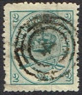 1870. Large Oval Type. 2 Skilling Light Green-blue. Lineperforated 12½ 4. Tear.  (Michel: 11 B ) - JF164305 - 1864-04 (Christian IX)