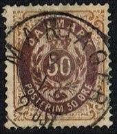 1875. Bi-coloured. 50 Øre Lilac-brown/brown-yellow. Perf. 14x13½. Inverted Frame. MARIA... (Michel: 30IIYAc) - JF163978 - 1864-04 (Christian IX)