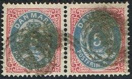 1875-1903. Bi-coloured. 5 Øre Rose/blue. Pair. (Michel: 24) - JF164735 - 1864-04 (Christian IX)