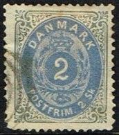 1871. Bi-coloured Skilling. 2 Skilling Prussian Blue/grey. Perf. 14x13½. Normal Frame (Michel: 16IAb) - JF161336 - 1864-04 (Christian IX)