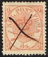 1865. Large Oval Type. 4 Skilling Bright Red. Perf. 13x12½ X (Michel: 13Aa) - JF164096 - 1864-04 (Christian IX)
