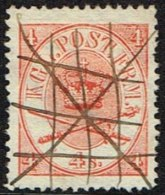 1865. Large Oval Type. 4 Skilling Bright Red. Perf. 13x12½ X Interesting.  (Michel: 13Aa) - JF164091 - 1864-04 (Christian IX)