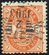 1902. Coat-of Arms. 1 Øre Orange MALMÖ - KÖPENHAMN 27 2 1903.  (Michel: 37) - JF166028 - 1864-04 (Christian IX)