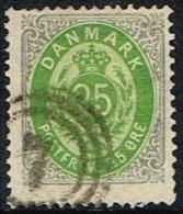 1875-1903. Bi-coloured. 25 Øre Grey/green First Print.  (Michel: 29) - JF165955 - 1864-04 (Christian IX)