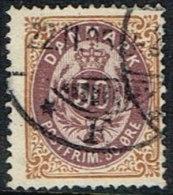1875. Bi-coloured. 50 Øre Lilac/brown. Perf. 14x13½. Normal Frame (Michel: 30IYAb) - JF165960 - 1864-04 (Christian IX)