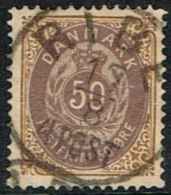 1875. Bi-coloured. 50 Øre Lilac/brown. Perf. 14x13½. Normal Frame RIBE 17 8 4 POST. (Michel: 30IYAb) - JF165963 - 1864-04 (Christian IX)