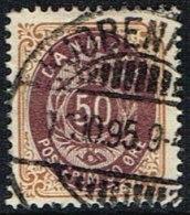 1875. Bi-coloured. 50 Øre Lilac/brown. Perf. 14x13½. Normal Frame KJØBENHAVN 7. 9. 95. (Michel: 30IYAb) - JF165964 - 1864-04 (Christian IX)