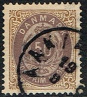 1875. Bi-coloured. 50 Øre Lilac/brown. Perf. 14x13½. Normal Frame AAKIRKEBY 19 9. (Michel: 30IYAb) - JF165962 - 1864-04 (Christian IX)