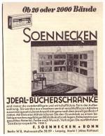 Original Werbung - 1930 - Soennecken , Bücherschränke , Schrank , Möbel , Bonn , Leipzig !!! - Möbel