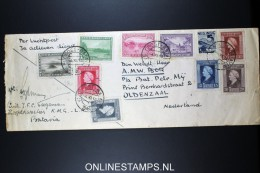 Dutch East Indies, Fieldpost Veldpost Cover 1946,  Batavia To Oldenzaal Holland, Mixed Stamps Both Sides - Nederlands-Indië