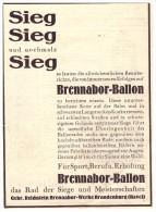 Original Werbung - 1930 - Brennabor-Ballon , Sieg , Sieg ...  Gebr. Reichstein In Brandenburg A. Havel !!! - KFZ