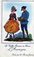 LES VIEILLES  PROVINCES DE FRANCE L AUVERGNE  EDITE PAR LES FARINES JAMMET - Costumes
