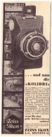 Original Werbung - 1930 - Zeiss Ikon , Dresden , Kamera , Photographie , Kolibri !!! - Cameras