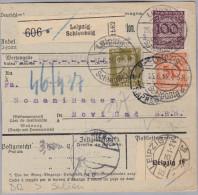 DR 1925-06-25 Leipzig R-Paket Karte Nach Serbien Novi Sad - Deutschland