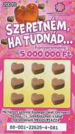 HUNGARY - SOK SZERETETTEL SERIE  - 6 PIECES - Biglietti Della Lotteria