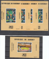 Dahomey   -   1974. Coppa, Bandiere.  Rimet Cup, Flags. Complete Very Very Rare Set In Sheets MNH - Coppa Del Mondo
