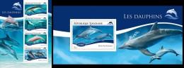 Togo 2014, Dolphins, 4val In BF +BF - Delfines