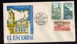 FDC-1459**Spain 1961**El Escorial FDC - (Scott #1021-1023)**Alonzo Cachet - FDC