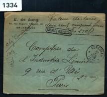 BELGIQUE - LETTRE  EN VALEUR DECLAREE POUR LA FRANCE  1928   A VOIR - Postmark Collection