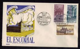 FDC-1458**Spain 1961 **El Escorial FDC - (Scott #1025-1026)**Alonzo Cachet - FDC