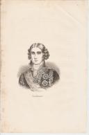 FRANCE - JEAN JACQUES REGIS DE CAMBACERES - ANTIQUE AND ORIGINAL PRINT - 1880s - Estampes & Gravures
