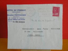 Flamme - 66 Pyrénées Orientales, Amélie Les Bains, Thermal Tourisme - 1.7.1974 - Postmark Collection (Covers)