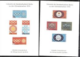 Deutschland 1976 Entwürfe Der Bundesdruckerei Berlin Zu Den Olympiamarken. Offizieller Farbsonderdruck Der Sporthilfe - BRD