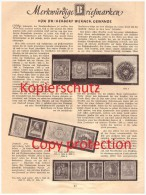 Original Zeitungsbericht - 1930 - Merkwürdige Briefmarken , Postwertzeichen , Dr. H.W. Gewande !!! - Collections