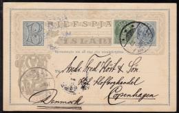 1896. Aur-Issue. 5 Aur Green. Perf. 12½ (Michel: 13B) - JF102172 - Iceland
