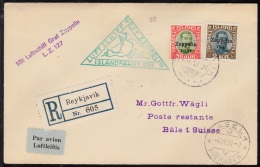 1931. Air Mail. Zeppelin. 2 Kr. Green-grey/brown King Christian X. Only 40.000 Issued. ... (Michel: 149) - JF102188 - Poste Aérienne