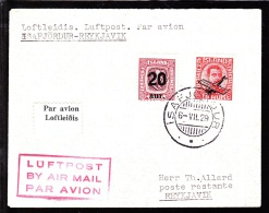 1929. Two Kings. 20 Aur On 25 Aur Green/brown And Air Mail. Overprint. Aeroplane On 10 ... (Michel: 108, 122) - JF103767 - Airmail