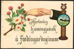 1915. Two Kings. 5 Aur Green. Perf. 14x14½, Wm. Cross REYKJAVIK 23. 2. 17. (Michel: 79) - JF104559 - Islande
