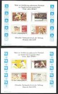 """Deutschland 1978. 4x Entwürfe """"Für Den Sport"""". Offizieller Farbsonderdruck Stiftung Deutsche Sporthilfe. Bundesdruckerei - BRD"""