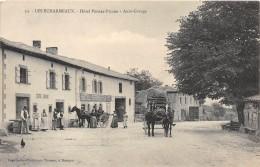 CPA 69 LES ECHARMEAUX HOTEL PERRAS PICARD AUTO GARAGE - France
