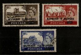 KUWAIT 1955 CASTLES SET SG 107/109 FINE USED Cat �16