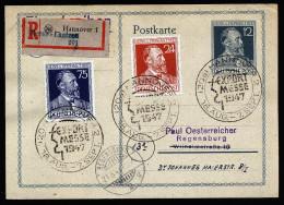 A3007) Kontrollrat R-Karte Von Hannover Messe-Laatzen 18.8.1947 - Gemeinschaftsausgaben