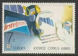Cyprus Chypre Zypern 1988 Mi 695 YT 691 ** Intelpost Telefax Terminal / Satellit, Mann Mit Telebrief - Europa Cept - Telecom