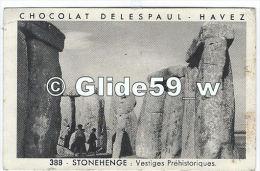 Chromo - Chocolat Delespaul Havez - STONEHENGE - Vestiges Préhistoriques - N° 388 - Autres