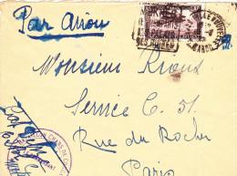Meknès Ville Nouvelle 1927 - Daguin Remparts Palais Ruines - Lettre - Maroc (1891-1956)